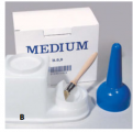Glue Container Medium 0.9lt with Brush